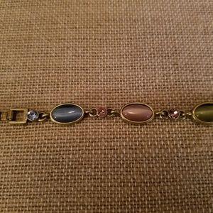 Lia Sophia Jewelry - LIA SOPHIA - matte gold, cabochon & crystal brace